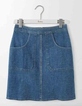 Mid Vintage Denim Rachel Chino Skirt