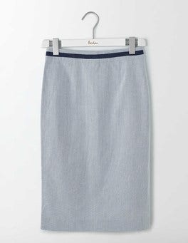 Ticking Stripe Modern Pencil Skirt