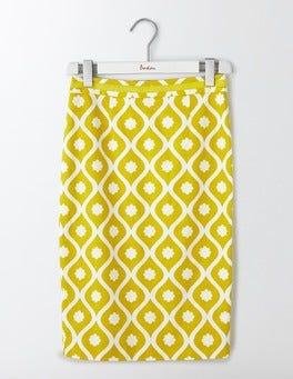 Mimosa Floral Geo Modern Pencil Skirt