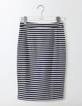 Navy/Ivory Stripe Martha Skirt