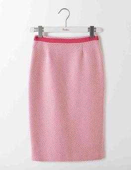 Pink Textured Modern Pencil Skirt
