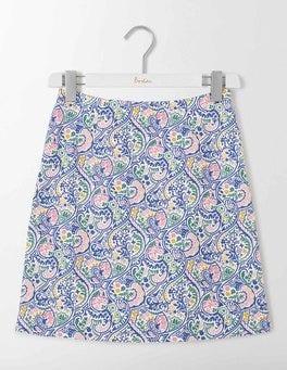Santorini Blue Paisley Terraza Cotton Skirt