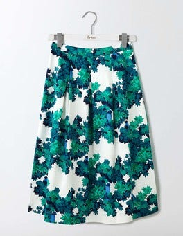 Green Botanical Bird Lola Skirt