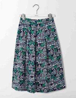 Navy Botanical Gardens Lola Skirt