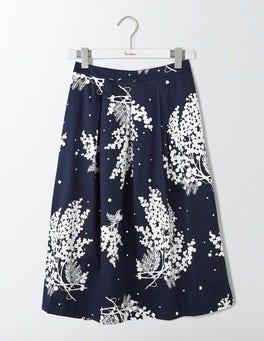 Navy Wisteria Floral Lola Skirt