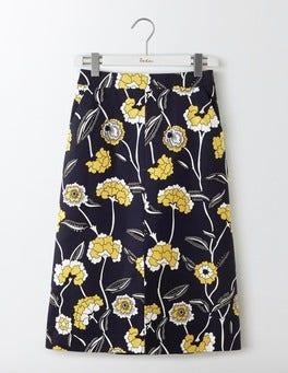 Navy Maritime Floral Riviera Skirt