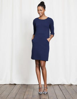 Navy Seam Detail Tunic Dress