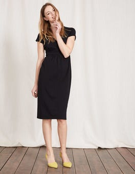 Black Casual Jersey Dress
