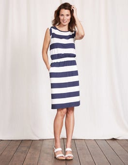 Indigo Marl/Ivory Blackberry Dress