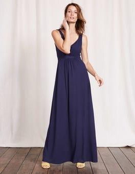 Navy Jersey Maxi Dress