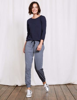 Blue Grey Off Duty Drapey Jogger