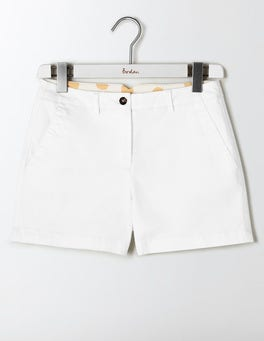 White Rachel Chino Shorts