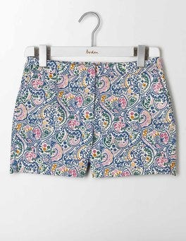 Santorini Blue Paisley Textured Richmond Shorts