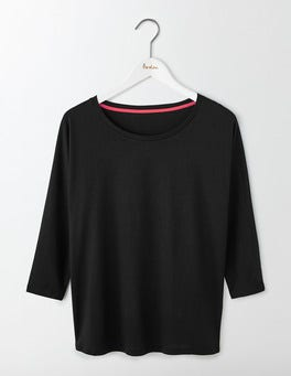Black Supersoft Oversized Top