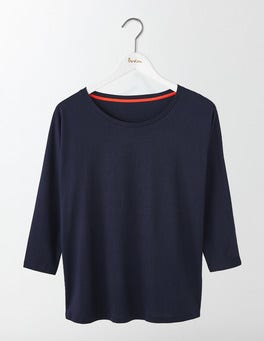 Navy Supersoft Oversized Top