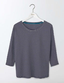 Navy/Ivory Supersoft Oversized Top