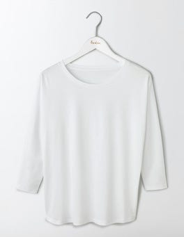 White Supersoft Oversized Top