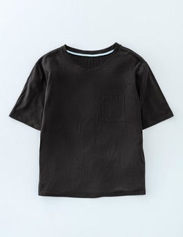 Black Supersoft Boxy Tee