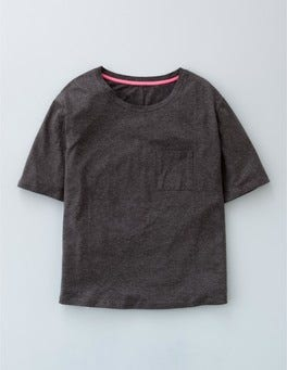 Charcoal Marl Supersoft Boxy Tee