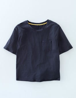 Navy Supersoft Boxy Tee