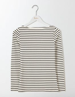 Ivory/Black Essential Boatneck