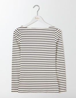 Ivory/Navy Essential Boatneck