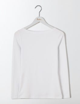 White Essential Boatneck