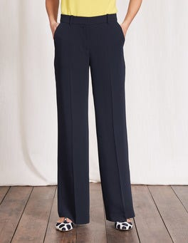 Navy Camille Wideleg Trousers