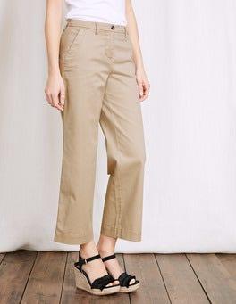 Sand Rachel Wide Crop Chino Trouser