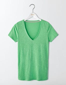 Wasabi Green Lightweight V-neck