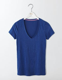 Santorini Blue Lightweight V-neck