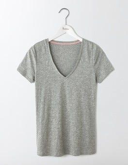 Grey Marl Lightweight V-neck