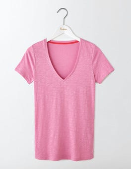 Lavender Rose Lightweight V Neck Tee