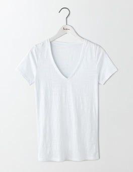White Lightweight V-neck