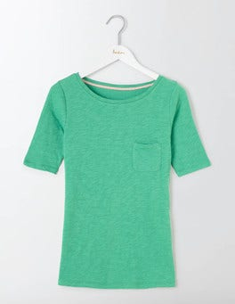 Wasabi Green Lightweight Boat Neck