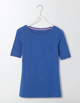 Santorini Blue Lightweight Boat Neck