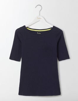 Navy Lightweight Boat Neck