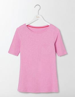 Lavender Rose Lightweight Boatneck Tee