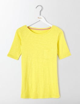 Pineapple Lightweight Boatneck Tee