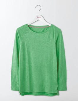 Wasabi Green Lightweight Baseball Tee