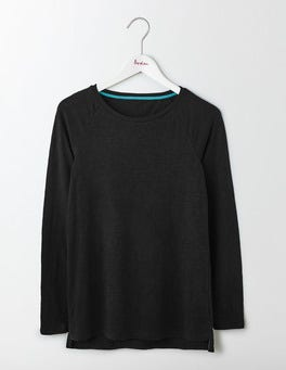Black Lightweight Baseball Tee