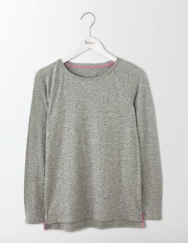 Grey Marl Lightweight Baseball Tee