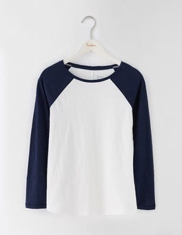 Navy/Ivory Lightweight Baseball Tee
