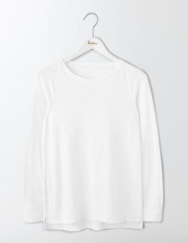 White Lightweight Baseball Tee