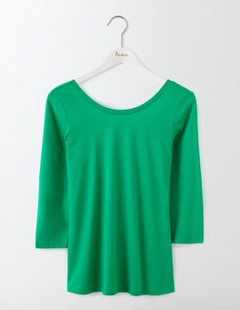 Meadow Green Supersoft Ballet Back Tee