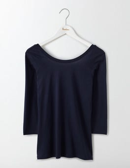 Navy Supersoft Ballet Back Tee