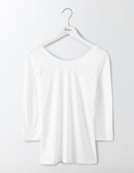 White Supersoft Ballet Back Tee
