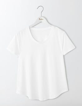 White Supersoft Swing Tee