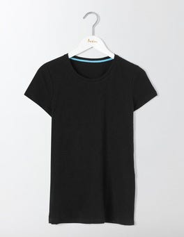 Black Lightweight Crew Tee