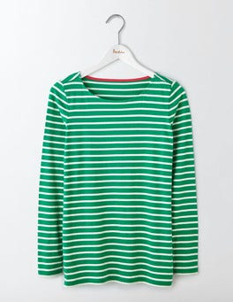 Meadow Green/Ivory Long Sleeve Breton